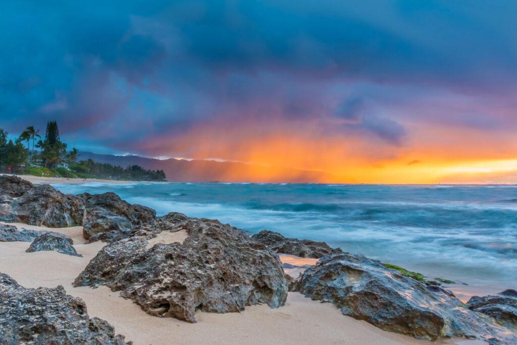 hawaiian beach at sunset facts about hawaii
