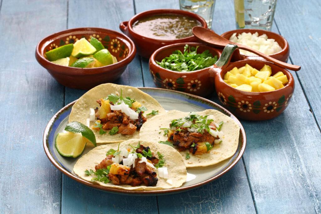 mexican food flour tortilla taco