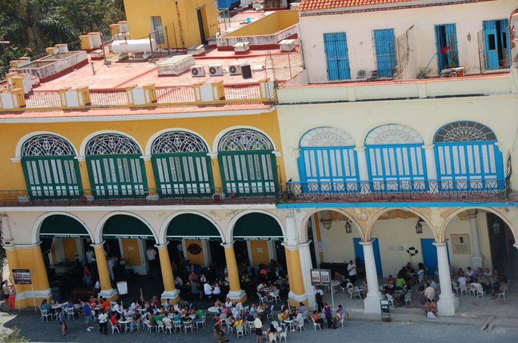 colourful street in cuba