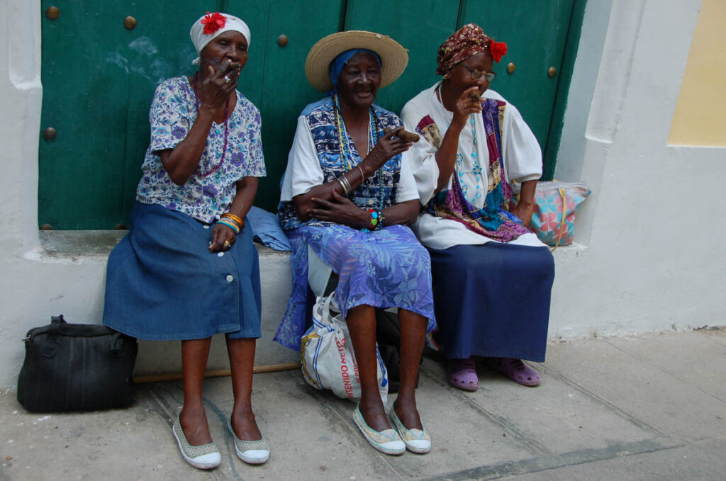women in havana smoking
